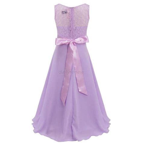 Maxi Dress Flowerkids lace flower wedding bridesmaid formal