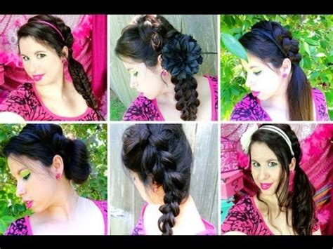 easy braided hairstyles  summer school youtube