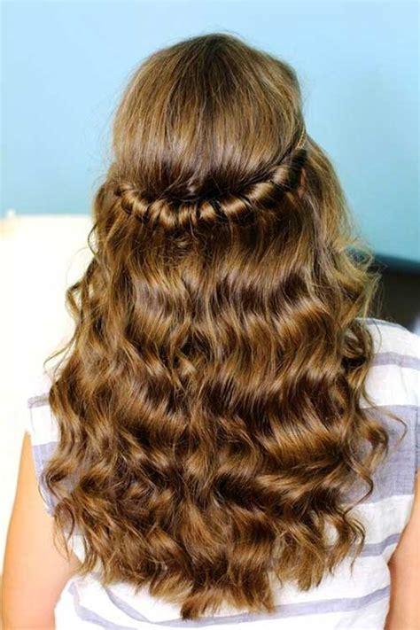 hairstyles hair down school 30 best half up curly hairstyles hairstyles haircuts