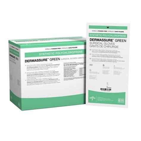 powdered and powder free surgical medline dermassure green powder free surgical gloves
