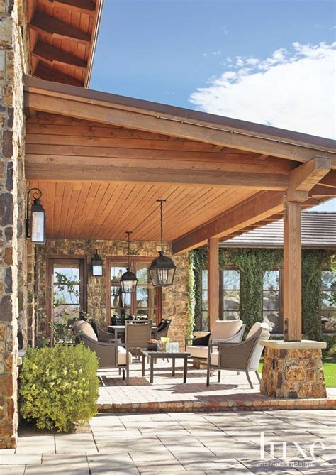 Great Patio Ideas by Great Patio With Roof To Create A Outdoor Living
