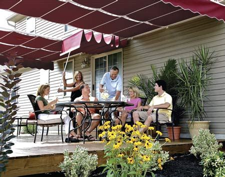 how to build a patio awning how to shade your deck or patio with a diy awning retractable canopy canopy and decking