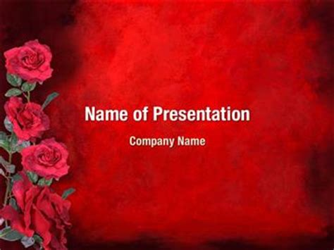themes rose download red rose powerpoint templates powerpoint backgrounds for