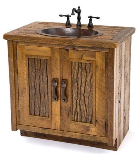 rustic vanities barn wood bath vanity aged reclaimed wood