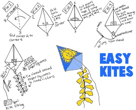 How To Make A Kite Out Of Paper And Straws - kite for how to make kites