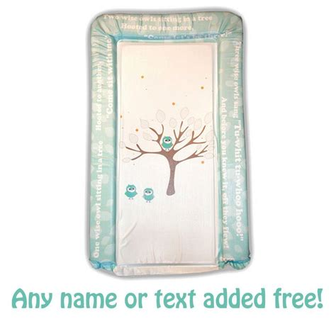 Owl Baby Changing Mat personalised changing mat pad 3 wise owls tree by