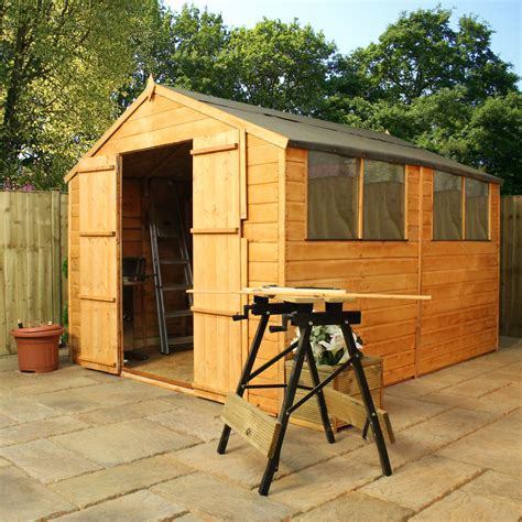 10 X 4 Wooden Shed 10 X 8 Wooden Apex Garden Shed