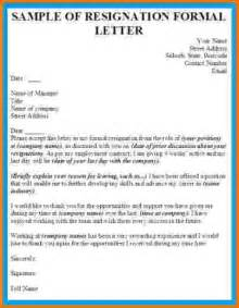 business letter of resignation 8 formal business letter exles financial statement form