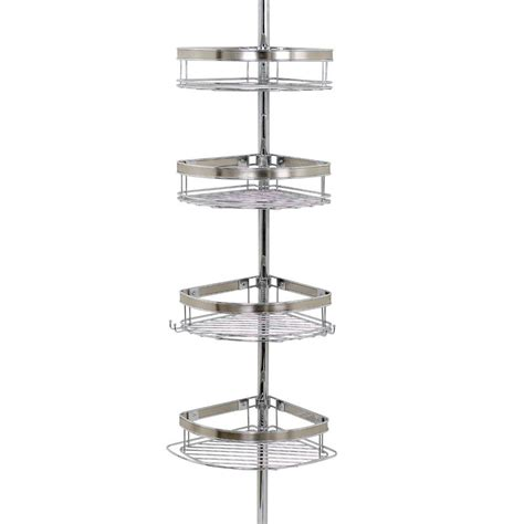 The Shower Caddy by Zenna Home The Shower Door Caddy In Chrome E7803ss