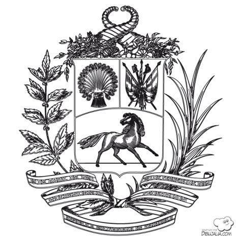 imagenes del escudo de venezuela actualizado dibujos para colorear de los simbolos patrios de venezuela