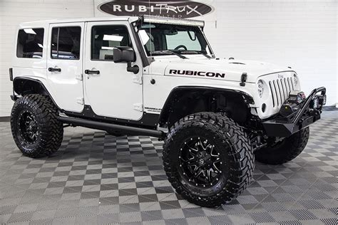 White Jeep Wrangler Unlimited 2017 Jeep Wrangler Rubicon Rock Unlimited White