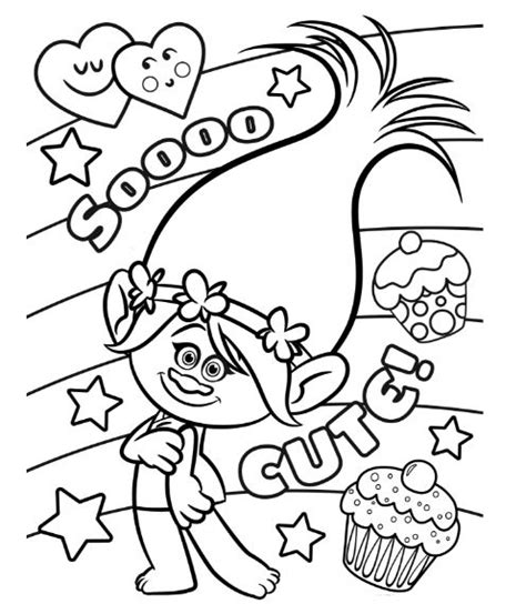 coloring page princess poppy princess poppy troll coloring pages drawing board weekly