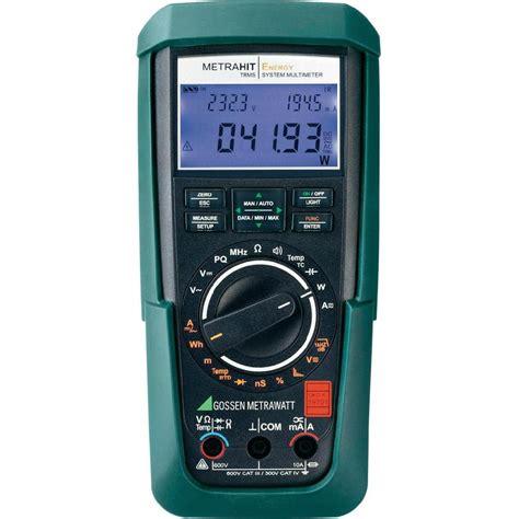 Multimeter Digital handheld multimeter digital gossen metrawatt metrahit energy calibrated to dakks standards cat