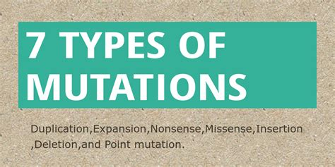 7 Types Of I by 7 Types Of Mutations By Latajha Infogram