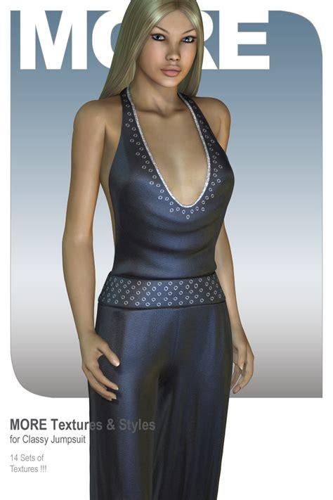 Jumpsuit Dress Motif 6191 10 more textures styles for jumpsuit 3d figure
