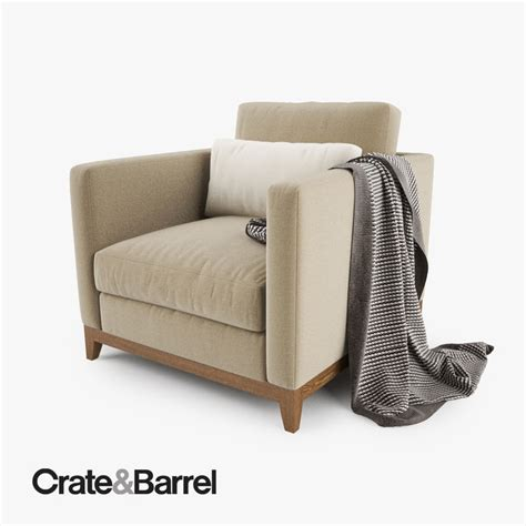 crate and barrel armchair 3d model crate barrel taraval armchair