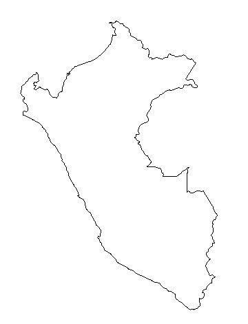 coloring page map of peru free blank outline maps of peru clipart best clipart best