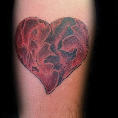 heart tattoo for men 40 broken designs for split ink ideas