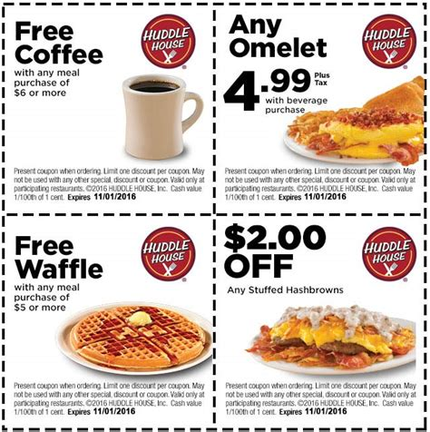Huddle House Coupons by Huddle House Coupons Free Side Of Bacon With Your Meal