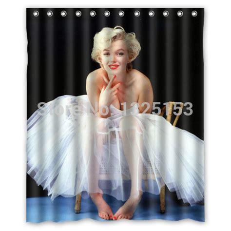 marilyn monroe shower curtains custom white dress style sexy marilyn monroe shower