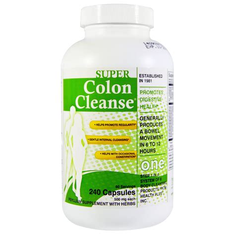 Detox And Colon Cleanse Pills by Health Plus Inc Colon Cleanse 500 Mg 240