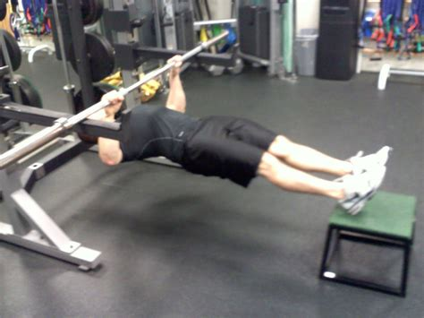 bench barbell row inverted row back exercise build a chiseled back