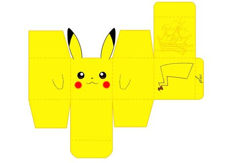 Pikachu Papercraft Template - the gallery for gt papercraft pikachu