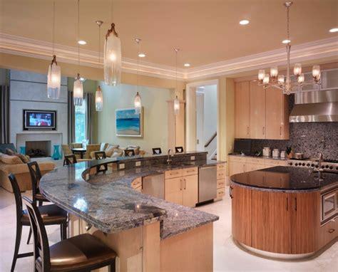 curved kitchen island designs photo gallery of kitchen islands