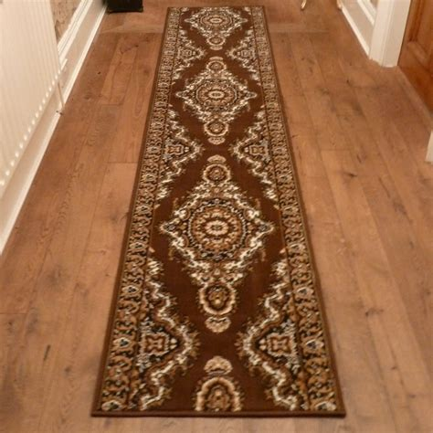 Floor Runner Rugs Turkesh Brown Traditional Hallway Carpet Runner