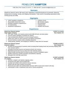 resume template for laborer 18 amazing production resume exles livecareer