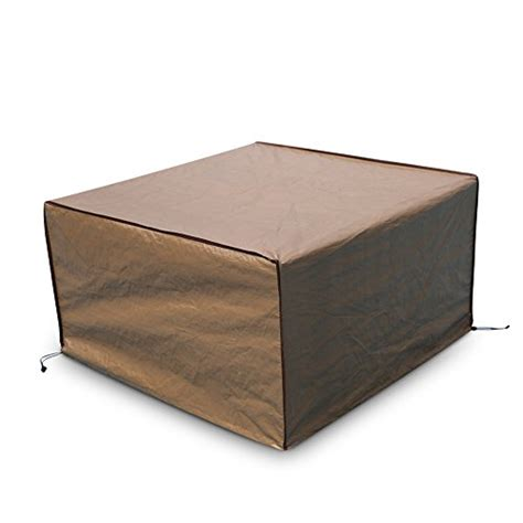 Patio Table Covers Square Abba Patio Square Pit Table Cover Outdoor Cover Waterproof 43 Inch Brown