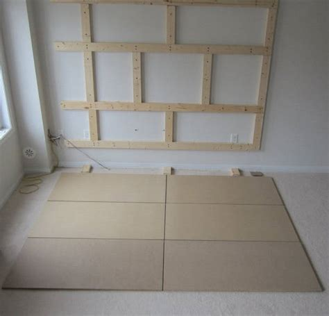 DIY Floating Wall   How To Build A Bachelor Pad TV Stand
