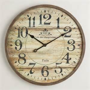 Wood Clock Norah Gray Wash Wood Clock World Market