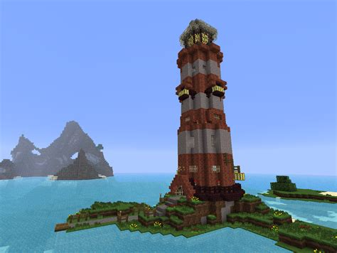 Design A Small House by Built A Small Lighthouse A Few Days Ago Minecraft