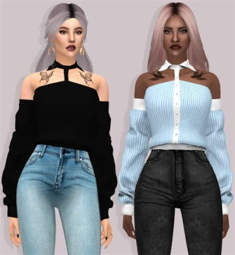 lace shirt the sims 4 spring4sims lumy sims hot blooded shirt with sleeves