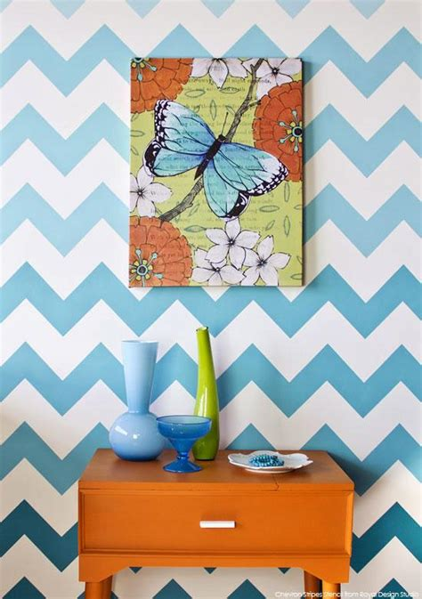 chevron pattern wall stencil how to stencil chevron stripes with ombre pattern royal
