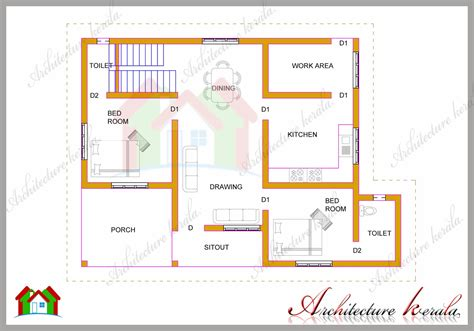 best 2 bhk home design floor plan for bhk house in plans with gorgeous 2bhk home