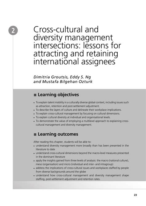 (PDF) Cross-cultural and diversity management