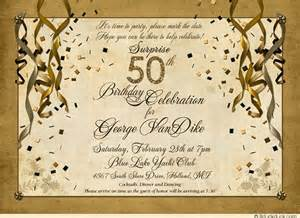 surprise 50th birthday cocktail party celebration invitations