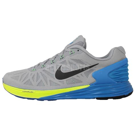 nike lunarglide mens running shoes nike lunarglide 6 grey blue 2014 mens running