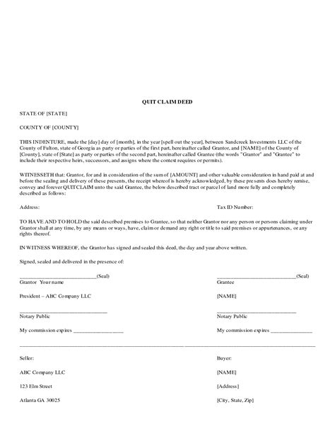 Quit Claim Deed Form Free Download Tat News Deed Template Legal Documents Pinterest Claim Deed Template