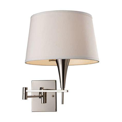 titan lighting 1 light polished chrome swing arm wall