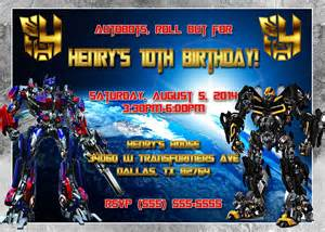 transformers birthday invitation kustom kreations