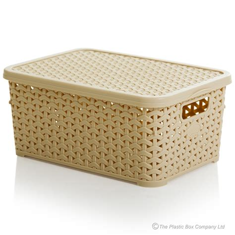 small bathroom storage boxes buy small rattan style plastic baskets with lids white