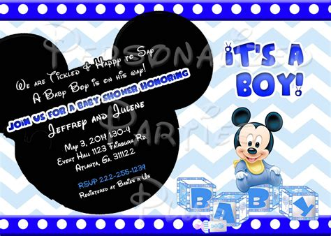 Mickey Mouse Baby Shower Items by Mickey Mouse Baby Shower Invitations Exciting Disney Baby