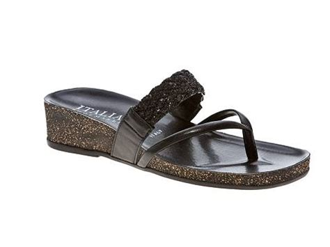 italian shoemakers sandals italian shoemakers boardwalk sequin wedge sandal dsw