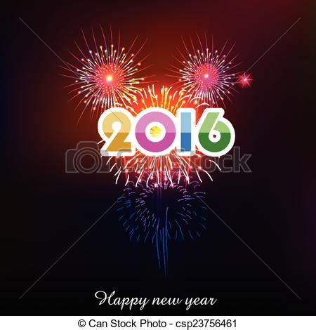 new year 2016 graphics free clip vector of happy new year 2016 with fireworks