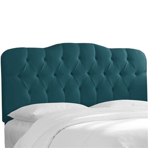 Peacock Headboard by Skyline Tufted Panel Headboard In Peacock 74xxshnpcc