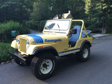 old yellow jeep 1979 jeep cj5 renegade classic jeep cj 1979 for sale
