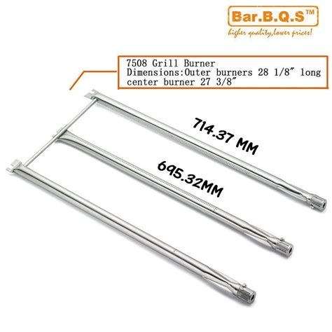 weber genesis replacement burners sb508 stainless steel 3 burner set replacement for